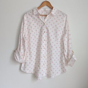 Chico's Shell Button Down Blouse